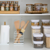 Pantry items on shelf