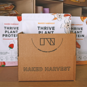 Naked Harvest products packed into a box