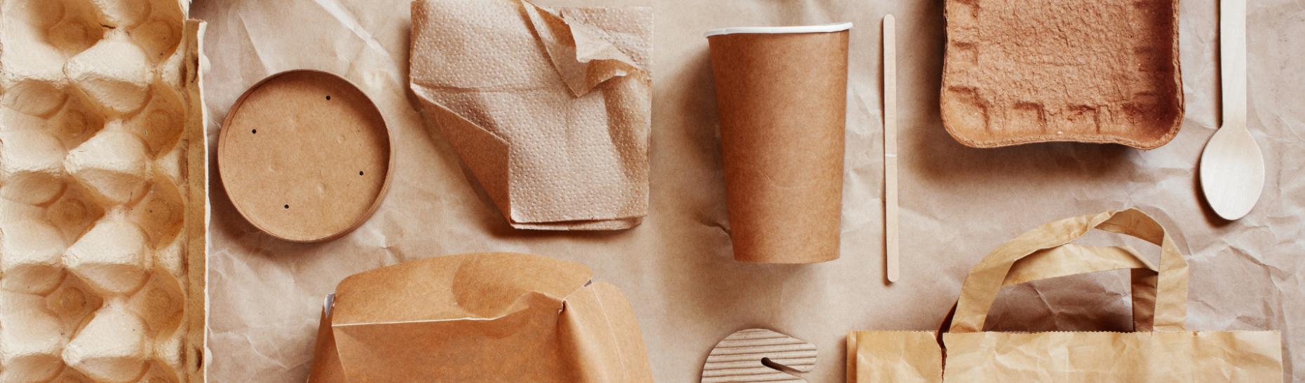 Brown packaging flat lay