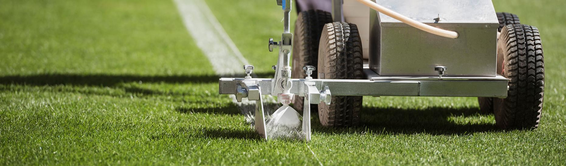 Marking the field with paint