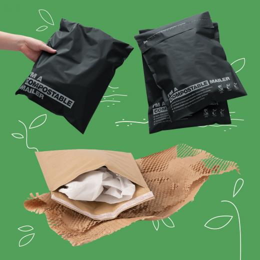 Signet's Honeycomb and Compostable Mailers