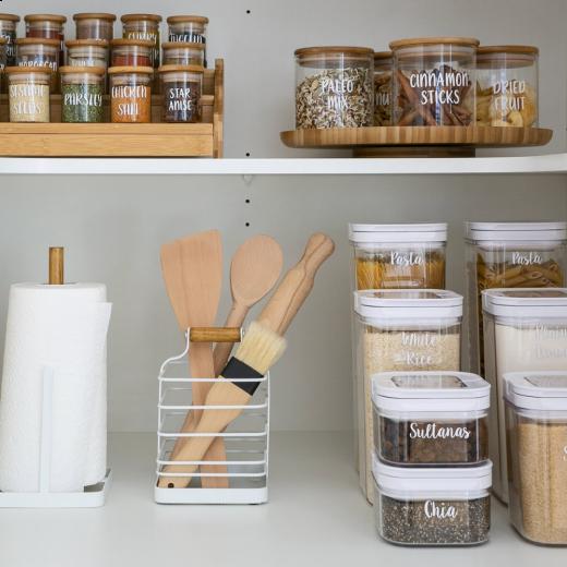 Pantry items on shelf