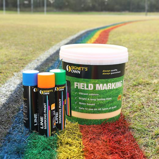 Signet's Own Line and Field Marking Paint on field
