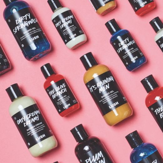 Lush Shower Gel Flat Lay