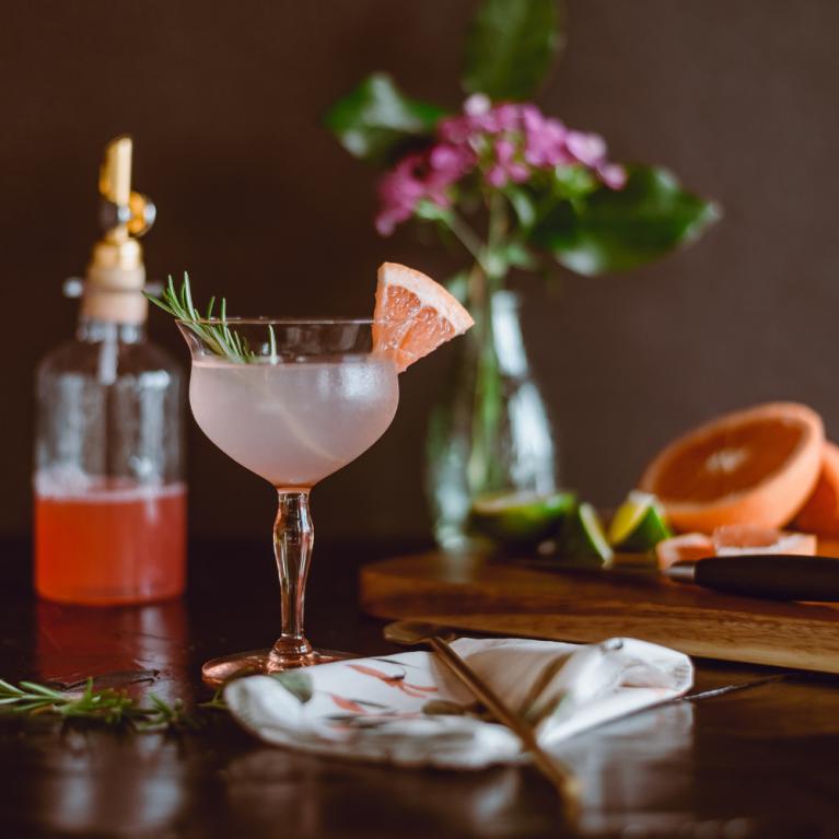 Cocktail making scene