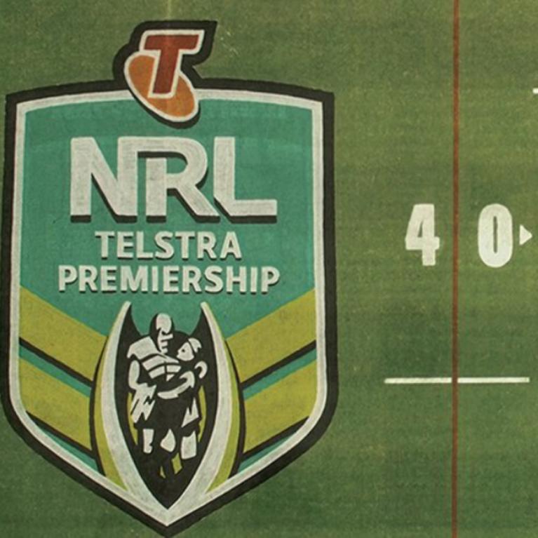 NRL Logo on Field