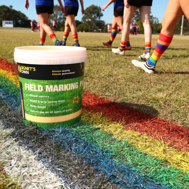 Signet's Own Field Marking Paint for Pride Cup