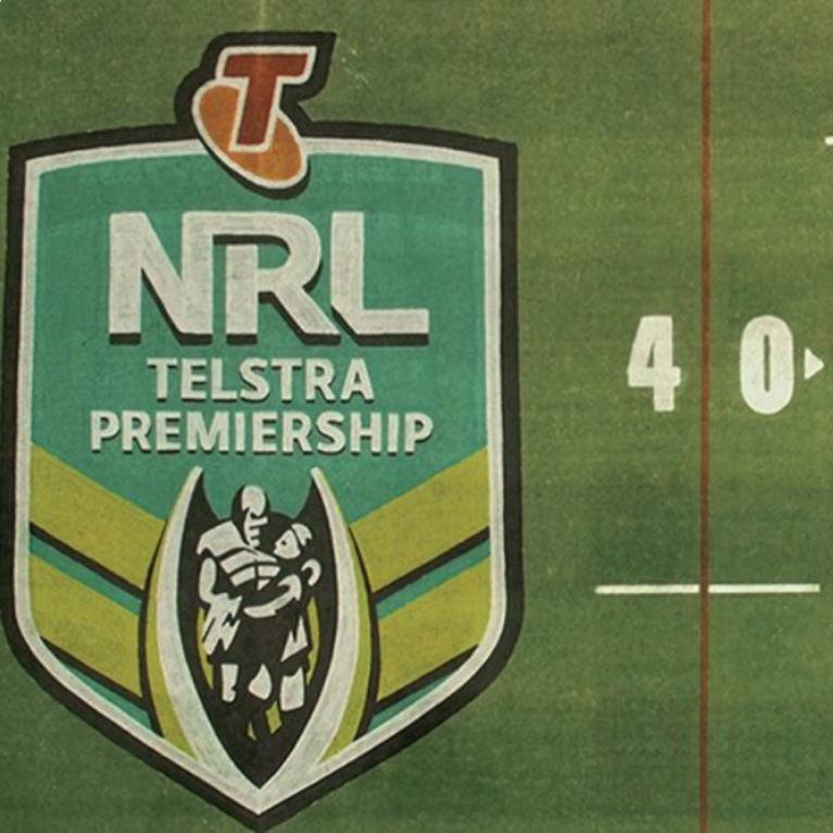 NRL Logo on Field
