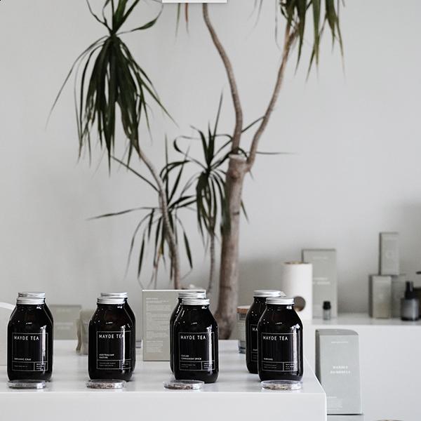 Mayde Tea Products on display