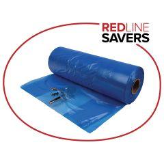 Signet Gusset Bags On A Roll 630mm + 380mm x 640mm x 20um - Blue (500 bags per roll)