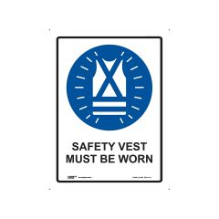 Safety Vest Must Be Worn 225mm x 300mm - Metal