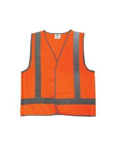Reflective Safety Vest - L Size - Orange