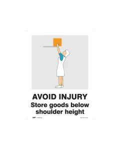 Avoid Injury Storage Height 450mm x 600mm - Polypropylene