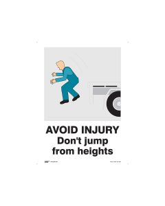 Avoid Injury Do Not Jump 450mm x 600mm - Polypropylene