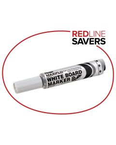 Pentel MaxiFlo Whiteboard  Marker - Black (12 per box)