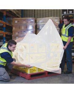 LDPE Pallet Bag 1900mm x 90um - White (25 bags per roll)