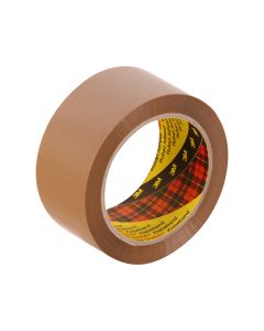 3M 370 Hot Melt Packaging Tape 48mm x 75m - Brown