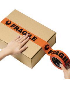 Signet's Own Fluoro Orange Warning Tape 48mm x 66m - Fragile