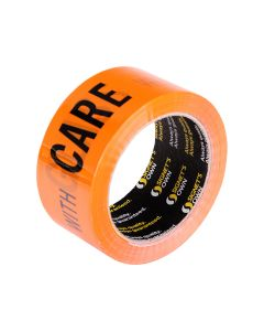 Signet's Own Fluoro Orange Warning Tape 48mm x 66m - Glass With Care