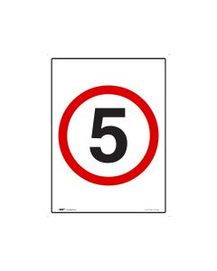 5kph Speed Limit - 600mm x 450mm - Metal