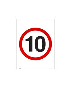 10kph Speed Limit - 600mm x 450mm - Metal