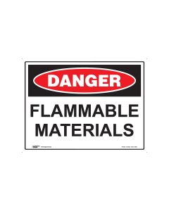 Danger Flammable Materials 600mm x 450mm - Polypropylene