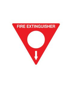 Powder Fire Extinguisher 350mm Triangle - Polypropylene
