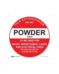 Powder Fire Extinguisher AB(E) 200mm Diameter - Polypropylene
