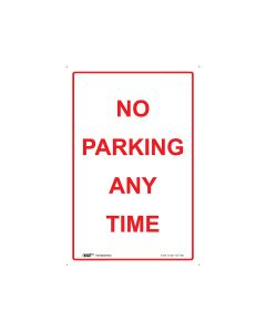 No Parking 300mm x 450mm - Metal