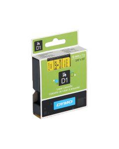 Dymo Tape 9mm x 7m - Black on Yellow
