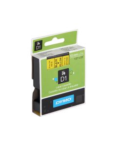 Dymo Tape 12mm x 7m - Black on Yellow