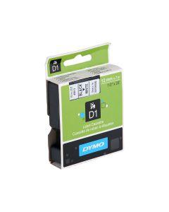 Dymo Tape 12mm x 7m - Black on White