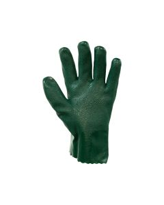 Double Dipped PVC Wrist Length Gloves 27cm - Green (12 pairs per carton)