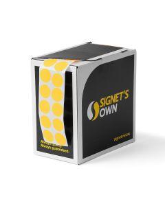 Signet's Own Stock Dots 25mm Size - Fluoro Orange (3000 per roll)