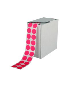 Signet's Own Stock Dots 25mm Size - Fluoro Pink (3000 per roll)