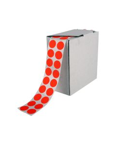 Signet's Own Stock Dots 25mm Size - Fluoro Red (3000 per roll)