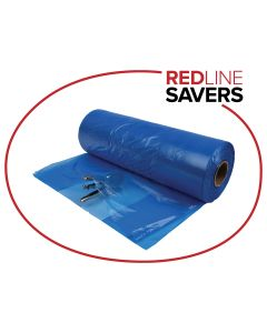 Signet Gusset Bags On A Roll 630mm + 380mm x 640mm x 20um - Blue (500 bags per roll)