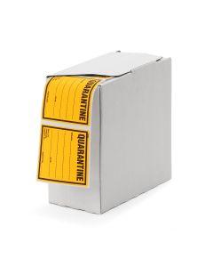 Signet's Own Labels 75mm x 75mm - Quarantine (Fluoro Orange - 1330 per roll)