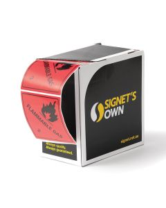 Signet's Own Dangerous Goods Labels - Flammable Gas 2 100mm x 100mm (1000 per roll)