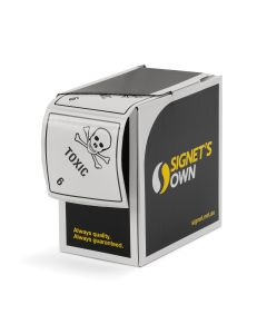 Signet's Own Labels 100mm x 100mm - Toxic 6 (1000 per roll)