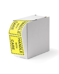 Signet's Own Handle With Care Labels 75mm x 100mm (1000 per roll)