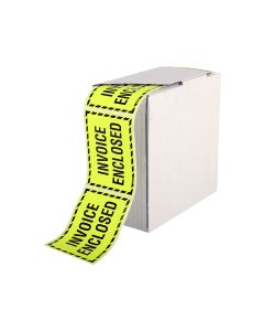 Signet's Own Invoice Enclosed Labels 75mm x 100mm (1000 per roll)
