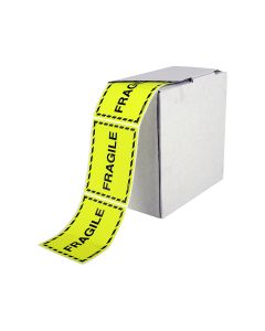 Signet's Own Fragile Labels 75mm x 100mm (1000 per roll)