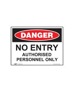 Danger Authorised Personnel Only 600mm x 450mm - Metal