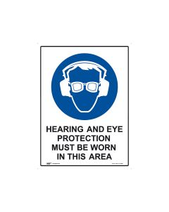 Hearing and Eye Protection 450mm x 600mm - Metal