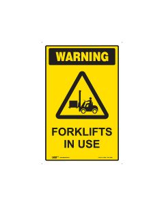 Forklift In Use 450mm x 300mm - Metal
