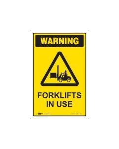 Forklift In Use 450mm x 300mm - Polypropylene