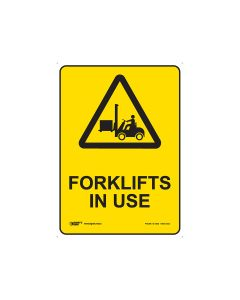 Forklift In Use 250mm x 180mm - Self Sticking Vinyl