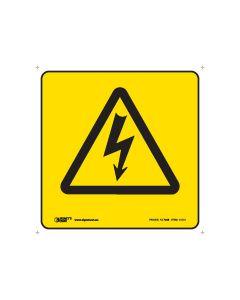 High Voltage Sign 100mm x 100mm -  Self Sticking Vinyl