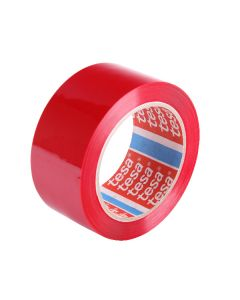 tesa 64204 Coloured Polypropylene Tape 48mm x 66m - Red